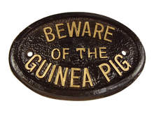 Targa - Beware of the Guinea Pig (Attento ai porcellini d'India)