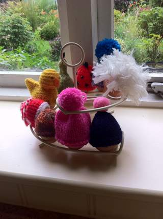 My cosy eggs on the EggSkelter!