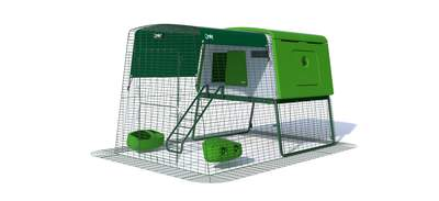 Eglu Cube Mk2 with 2m Run Package - Leaf Green