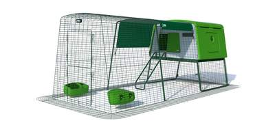 Eglu Cube Mk2 with 3m Run Package - Leaf Green
